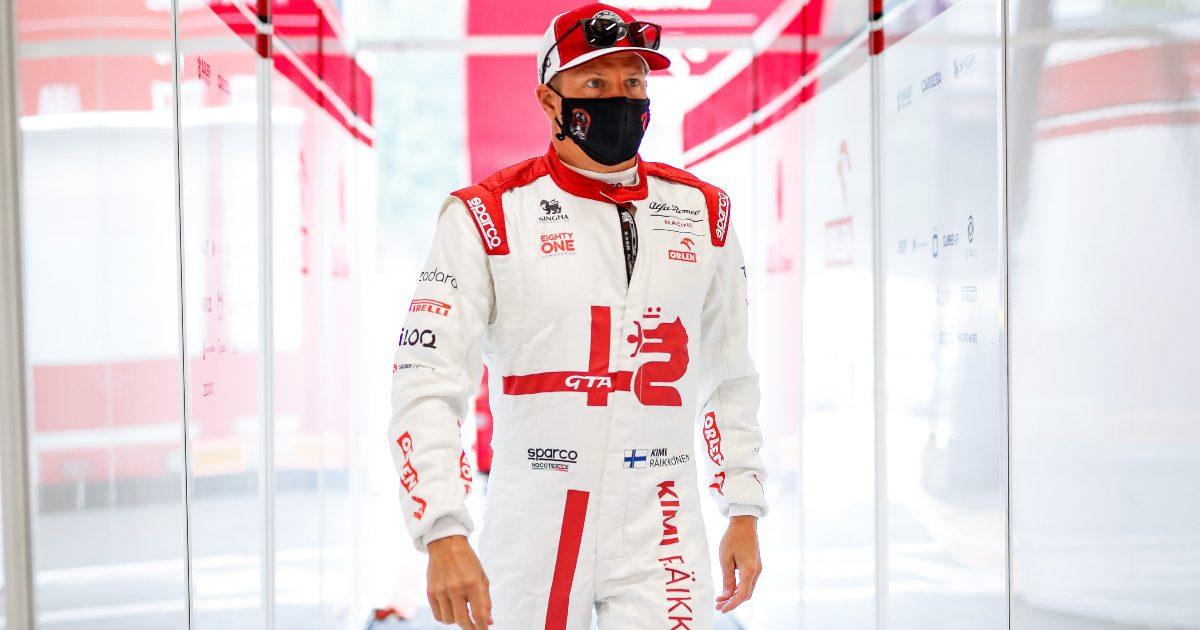 Kimi Raikkonen walks into the Alfa Romeo garage. Belgium, August 2021.