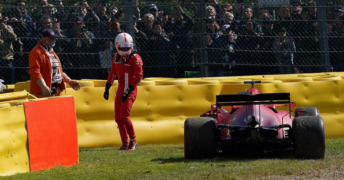 Charles Leclerc practice crash. Belgium Auugust 2021