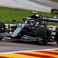 Sebastian Vettel drives at Spa. August 2021.