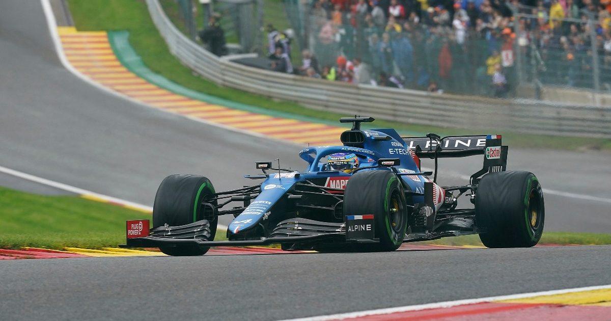 Fernando Alonso qualifying for the Belgian Grand Prix. Belgium August 2021