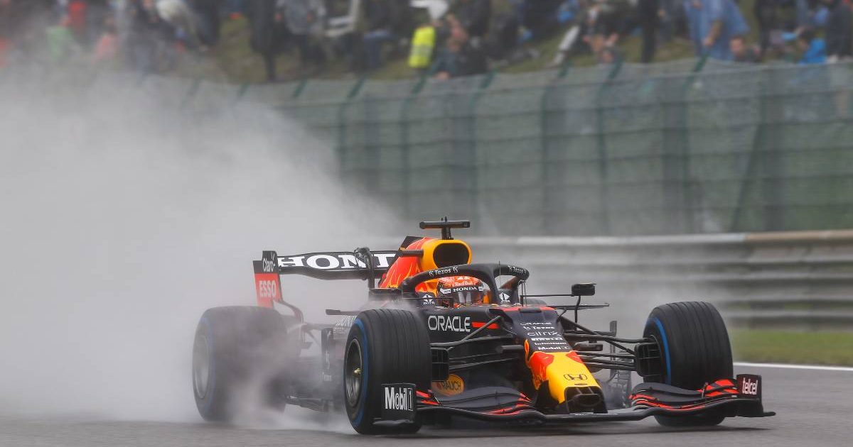 Max Verstappen's Red Bull on qualifying day for the Belgian GP. Spa-Francorchamps August 2021.