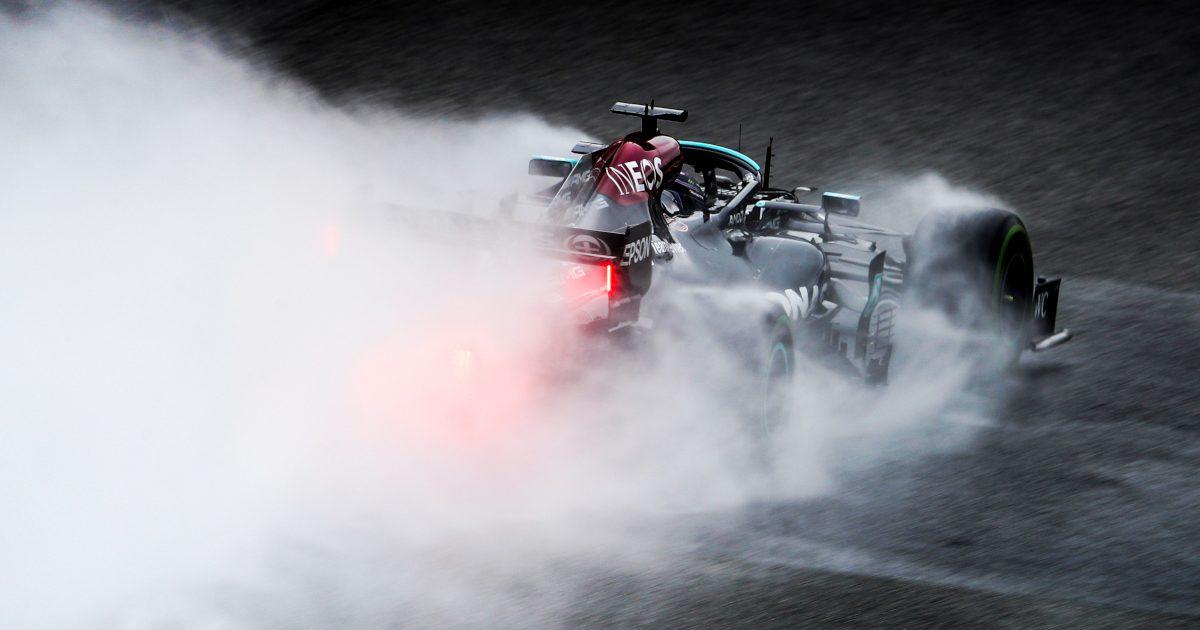Lewis Hamilton in the rain. Belgium August 2021