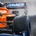 Daniel Ricciardo wet tyres Pirelli qualifying. Belgium August 2021