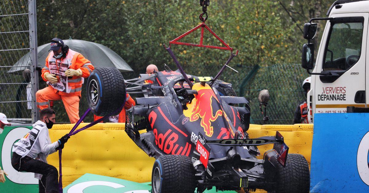 Sergio Perez crash Spa. Belgium August 2021