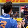 Daniel Ricciardo with Max Verstappen. Britain July 2021
