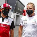Kimi Raikkonen with Valtteri Bottas. Paul Ricard June 2021