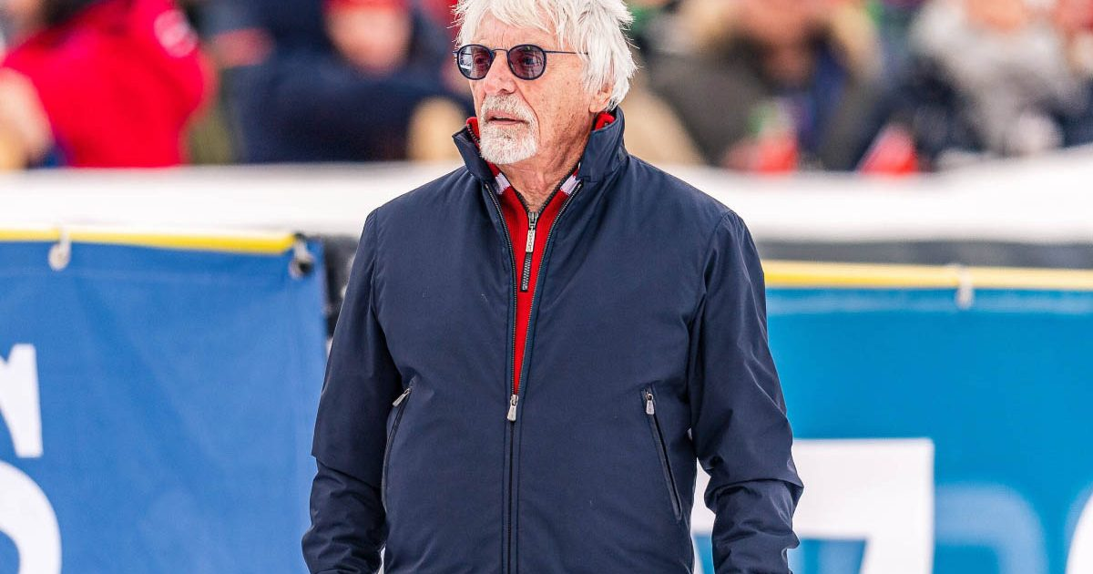 Bernie Ecclestone watches on at an event