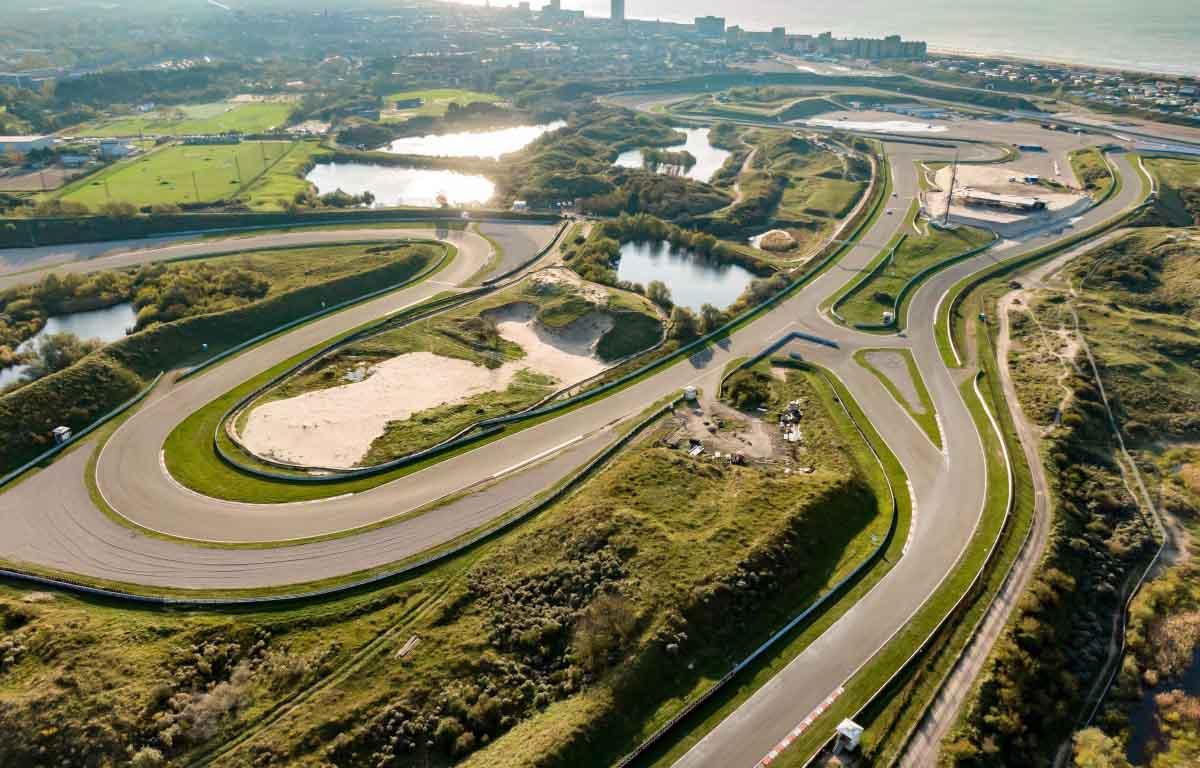 Zandvoort电路的鸟瞰图,荷兰大奖赛的家。