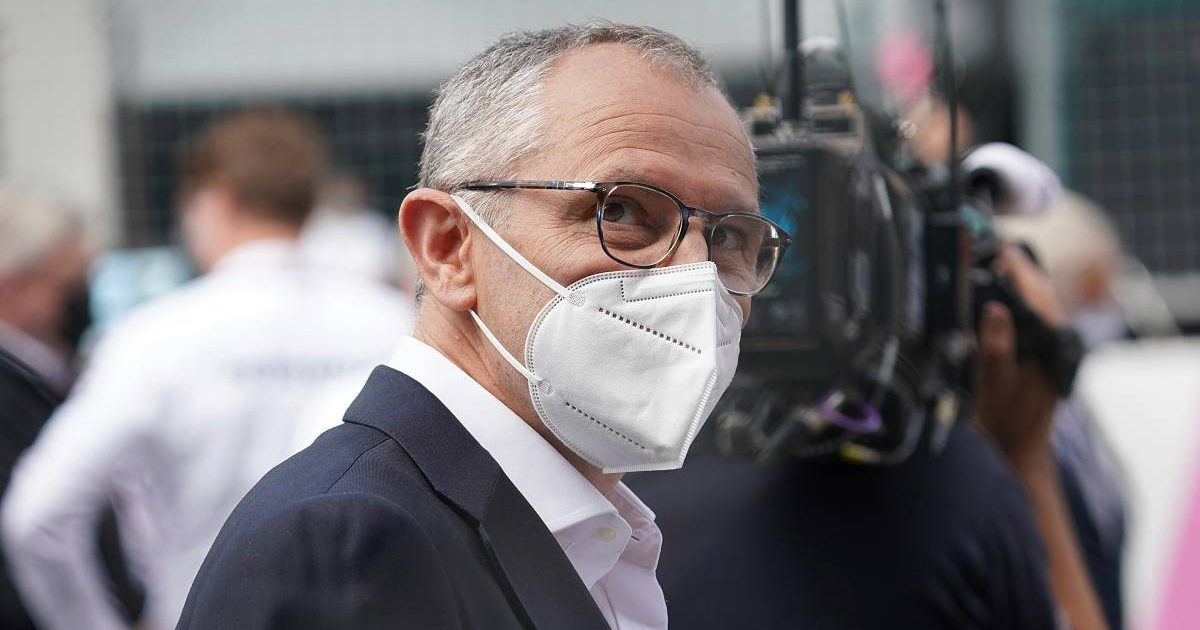 Stefano Domenicali on the grid at the Austrian GP. Red Bull Ring July 2021.