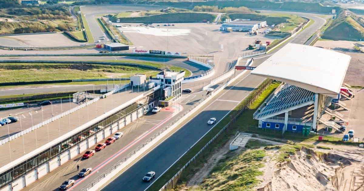 An aerial view of Dutch GP circuit, Zandvoort.
