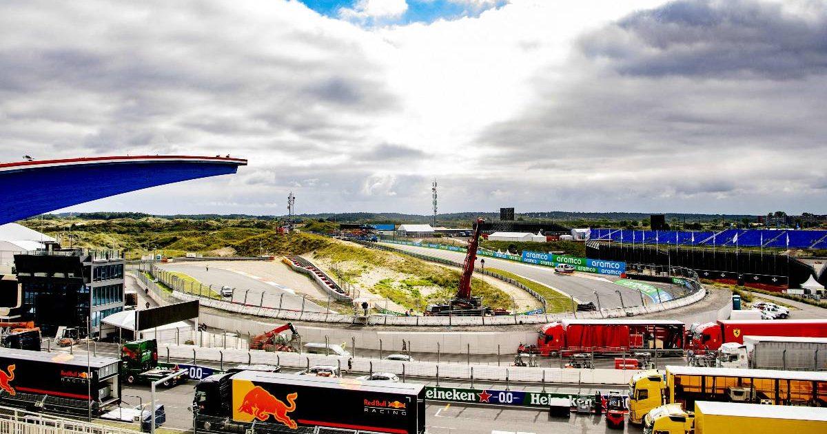 Formula 1 trucks arrive for the Dutch Grand Prix. Zandvoort September 2021.