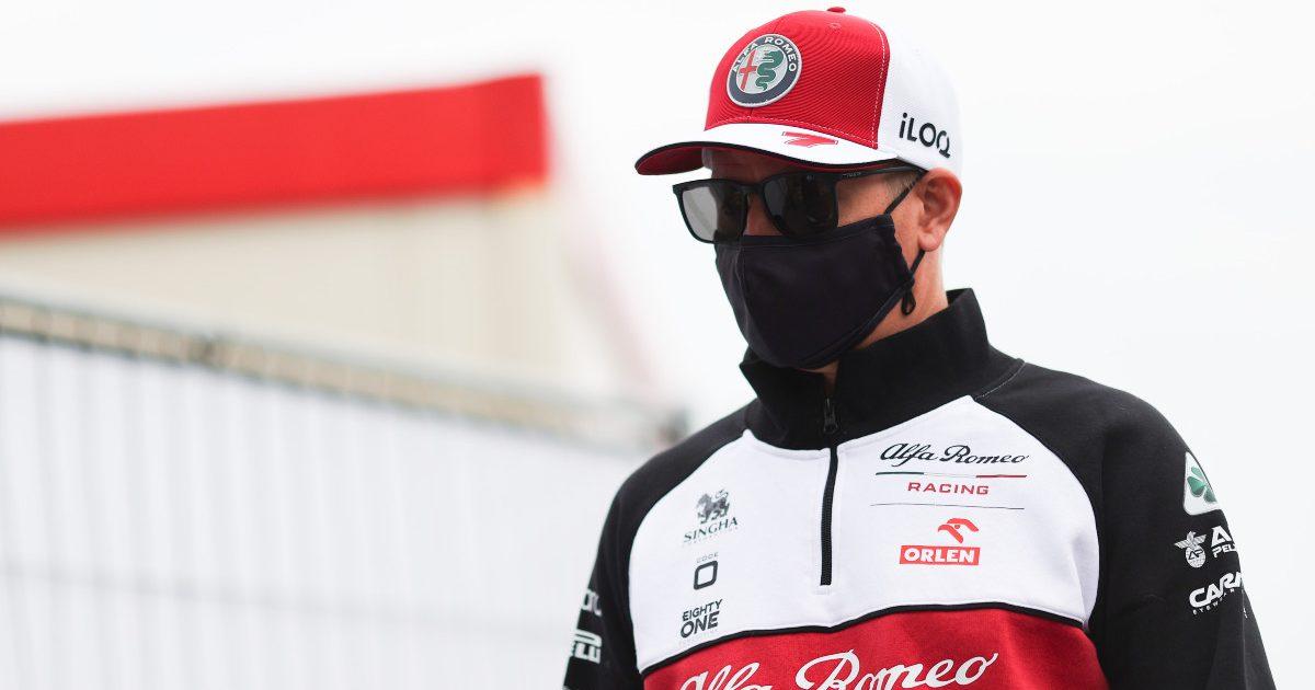 Kimi Raikkonen arrives for the Dutch Grand Prix. September 2021.