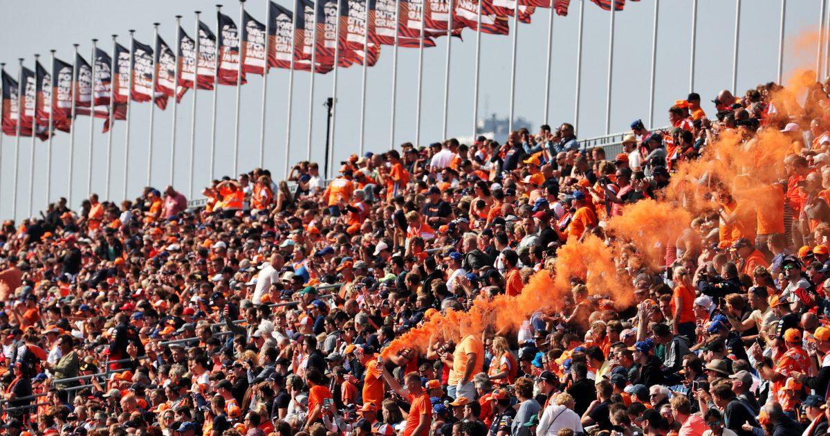 Dutch Grand Prix fans flares. Netherlands September 2021