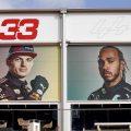 Max Verstappen and Lewis Hamilton head to head. Zandvoort September 2021