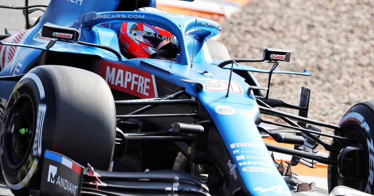 Esteban Ocon drives in FP1 at Zandvoort.