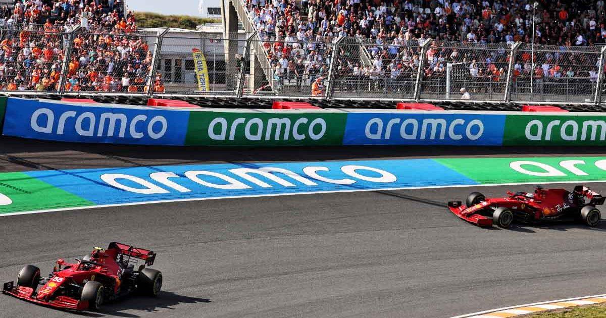 Carlos Sainz and Charles Leclerc in Dutch GP practice.