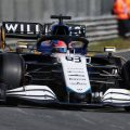 George Russell, Williams, on-track during Friday practice at the Dutch GP. September 2021.
