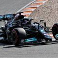 Lewis Hamilton in action on Saturday for Mercedes at Zandvoort. Netherlands, September 2021.