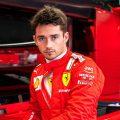 Charles Leclerc, Ferrari, looking focused. Netherlands, September 2021.