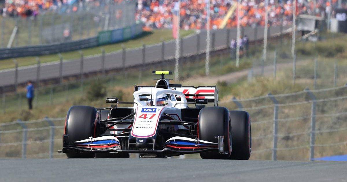 Mick Schumacher, Haas, in action at Zandvoort practice. Netherlands, September 2021.