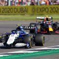 Nicholas Latifi and Sergio Perez. Silverstone July 2021