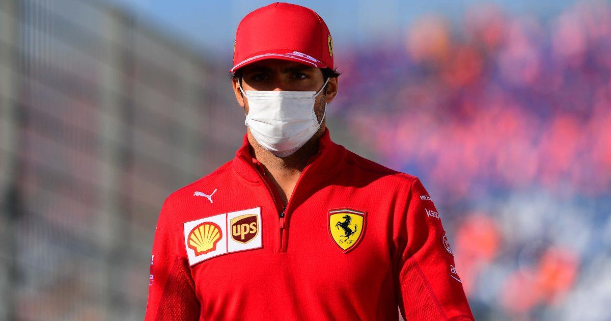 Carlos Sainz, Ferrari, in the Dutch GP paddock on race day. September 2021.