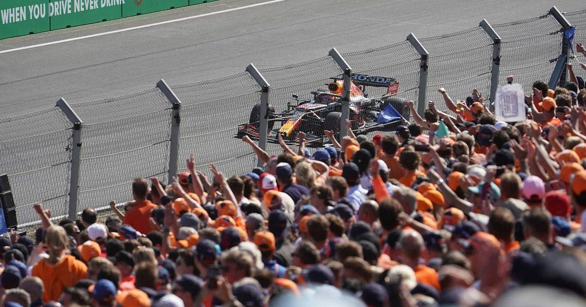 Max Verstappen passes his home fans. Netherlands, September 2021.