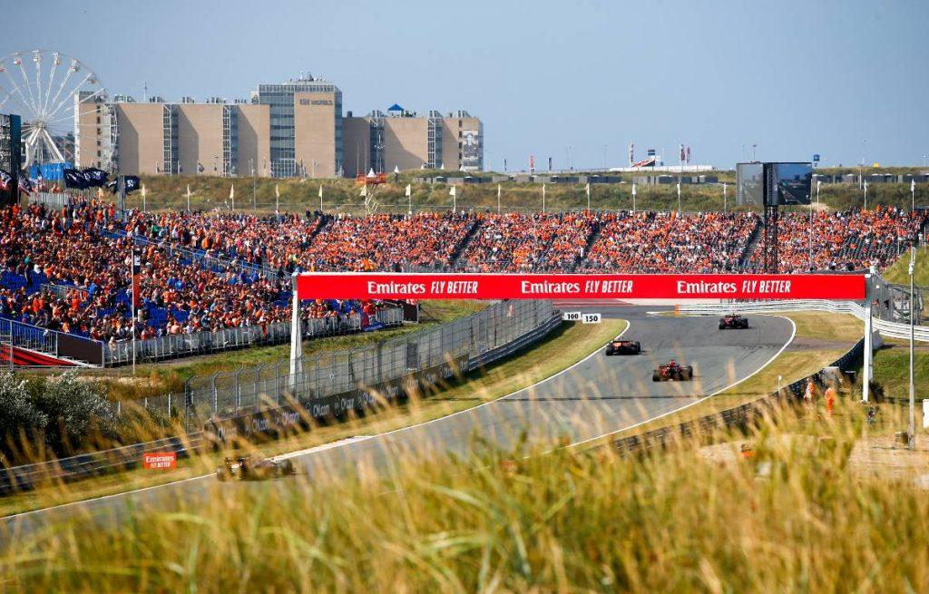电路的一般看法在荷兰gp的练习日。Zandvoort 9月2021。