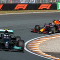 Max Verstappen chasing Valtteri Bottas. Netherlands September 2021.