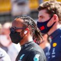 Lewis Hamilton and Max Verstappen on the grid at Zandvoort. September 2021.