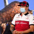 Kimi Raikkonen at an Austrian Grand Prix press conference. Spielberg July 2020.