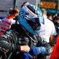 Mercedes' Valtteri Bottas removing his gloves. Netherlands, September 2021.
