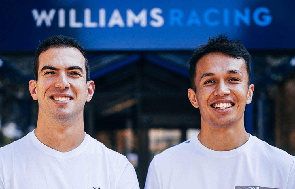 Nicholas Latifi and Alex Albon, 2022 Williams drivers.