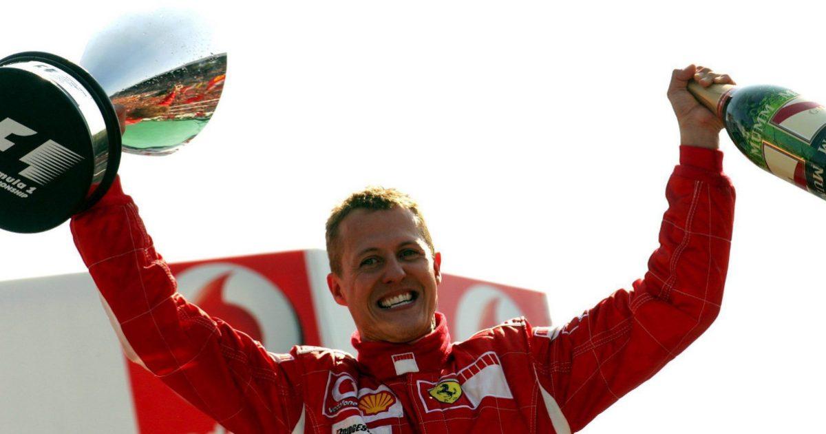 Michael Schumacher celebrates. Italy September 2006