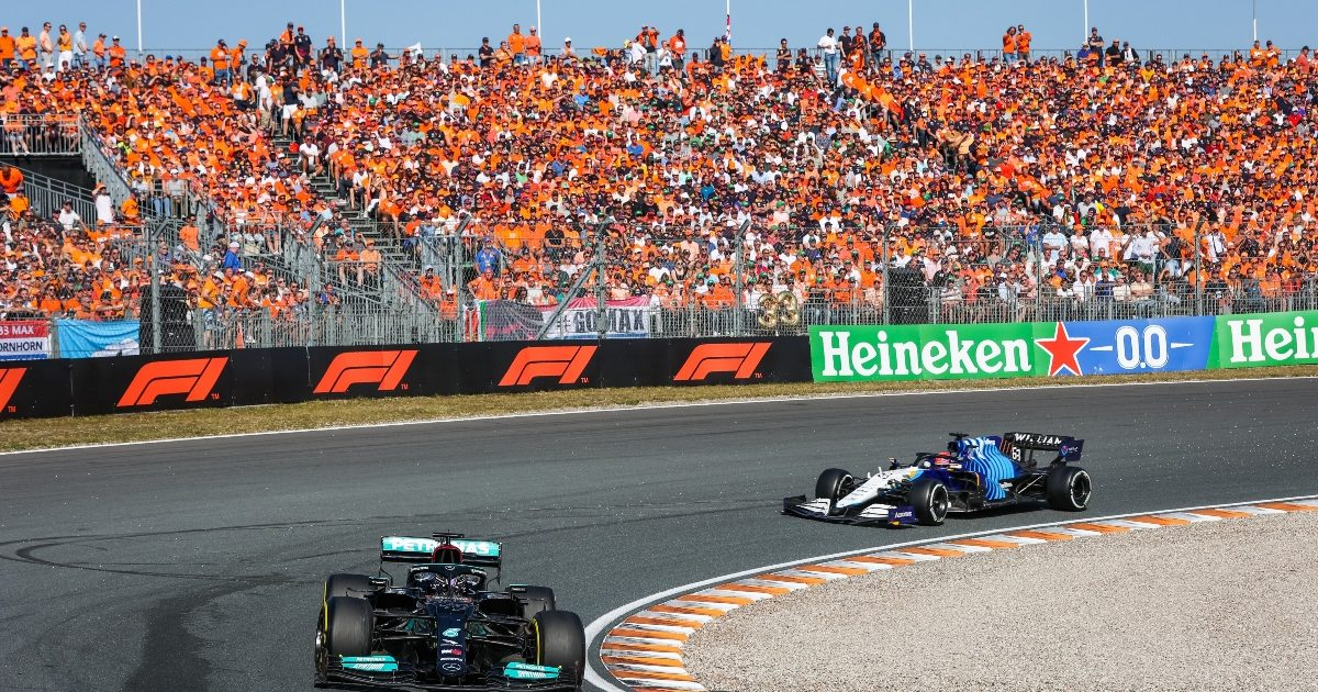 George Russell and Lewis Hamilton during qualifying. Netherlands September 2021