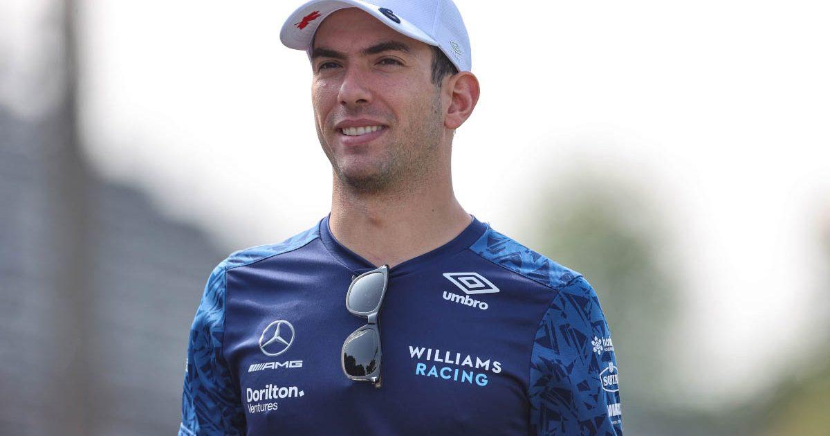 Williams driver Nicholas Latifi on a track walk. September 2021.