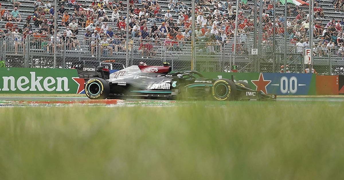 Valtteri Bottas in action at Italian Grand Prix. Monza September 2021