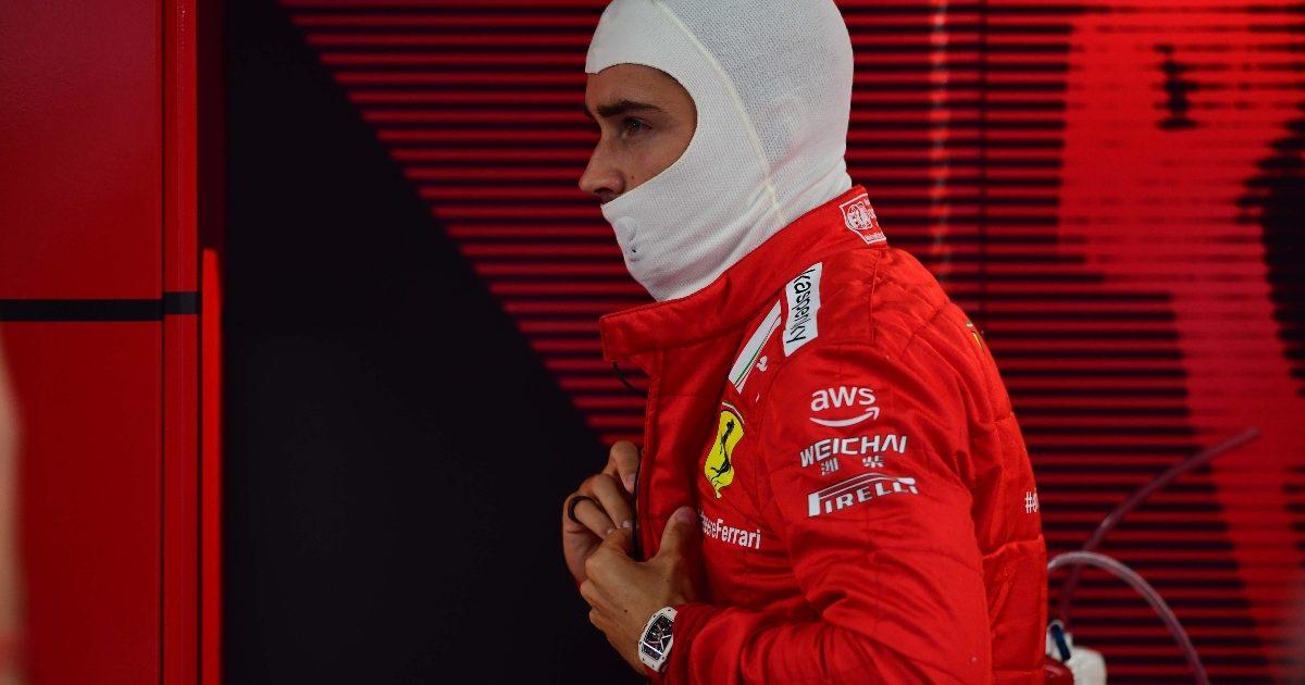 Charles Leclerc in the Ferrari garage. Italy September 2021