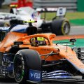 Lando Norris with a Haas. Italy September 2021