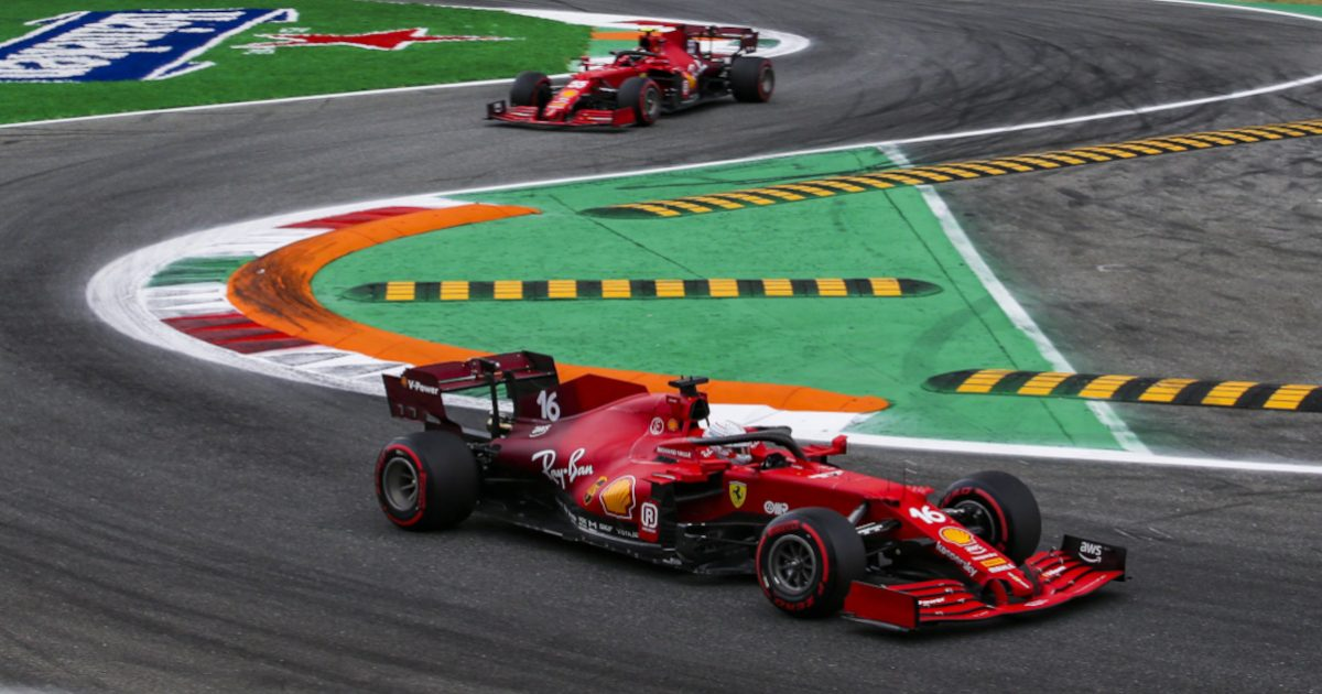 Ferrari at Monza. Italy September 2021
