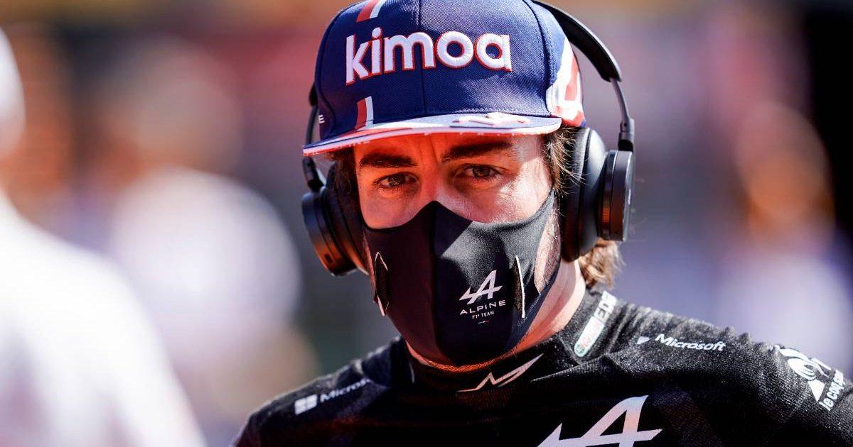 Fernando Alonso, Alpine, on the Dutch GP grid. September 2021.