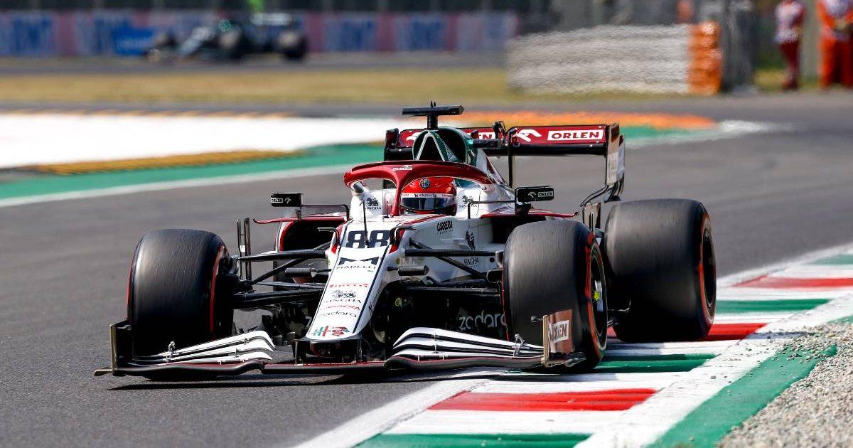 Robert Kubica's Alfa Romeo during free practice for the Italian GP. Monza September 2021.