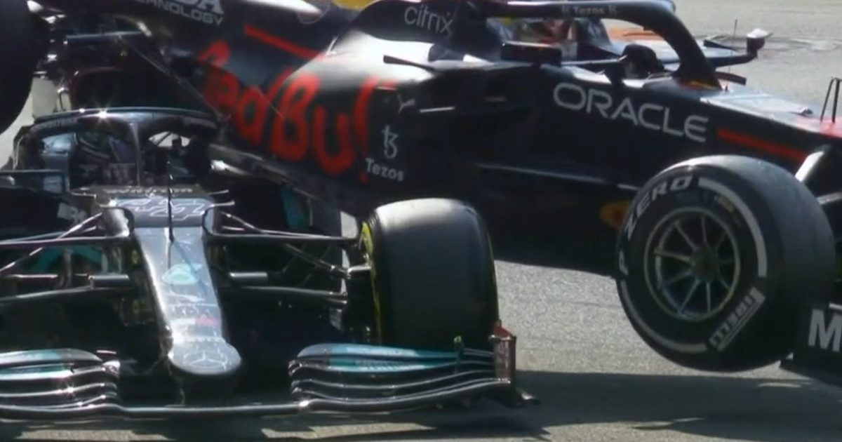 Max Verstappen Lewis Hamilton crash. Italy September 2021