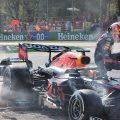 Max Verstappen和Lewis Hamilton撞车了。意大利2021年9月
