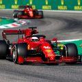 法拉利司机查尔斯莱克尔德和卡洛斯·索兹。意大利GP 2021。