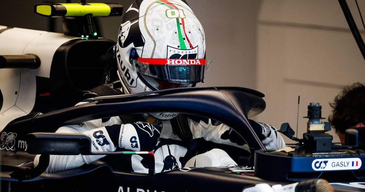 Pierre Gasly in the AlphaTauri cockpit. Italy, September 2021.