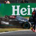 Max Verstappen walks away from Lewis Hamilton. Italy September 2021.