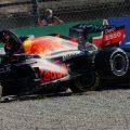 Max Verstappen和Lewis Hamilton撞车了。2021年9月意大利。