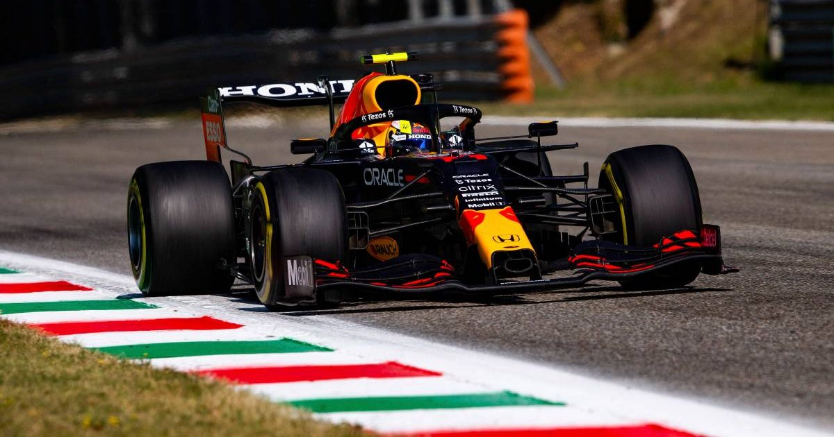 Sergio Perez's Red Bull during the Italian GP. Monza September 2021.