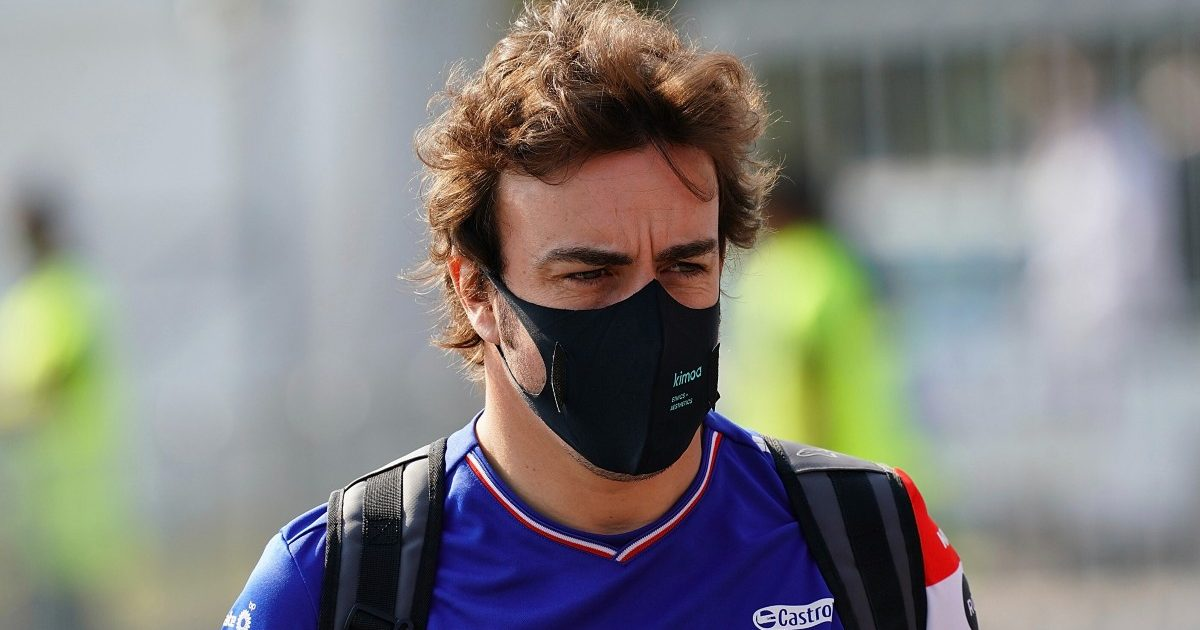 Fernando Alonso, Alpine, in the Italian GP paddock. September 2021.